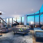 A double storey penthouse at the plush Queens Place apartment tower. Photo: FloodSlicer