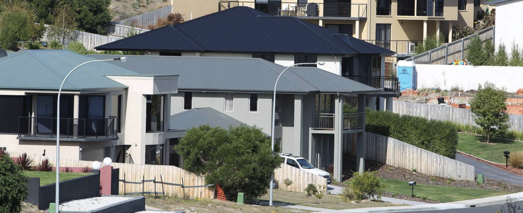 Large houses under construction at Tranmere SA. Photo: Winburn Leigh