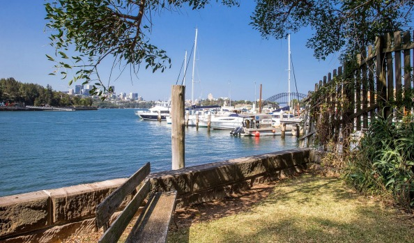 This Balmain waterfront property in Sydney was auctioned at the weekend for $6.1 million, well over the $5.5 million reserve. Supplied