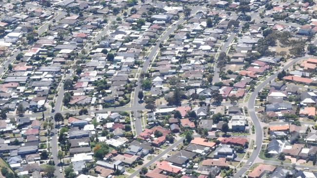 Melbourne's property market has slowed down. (AAP Image/Sam Mooy)Source:AAP