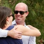 Melbourne homebuyers Claire Maries and Ryan Birch embrace after purchasing their first home in Belmont recently. Picture: Alison WyndSource:News Corp Australia