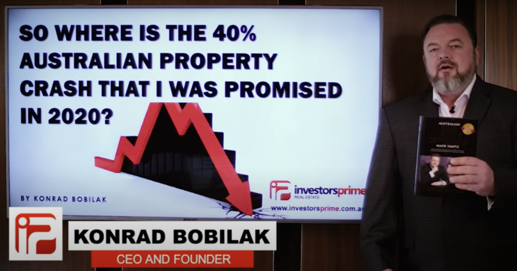 So where is the 40% Australian property crash that I was promised in 2020? – By Konrad Bobilak